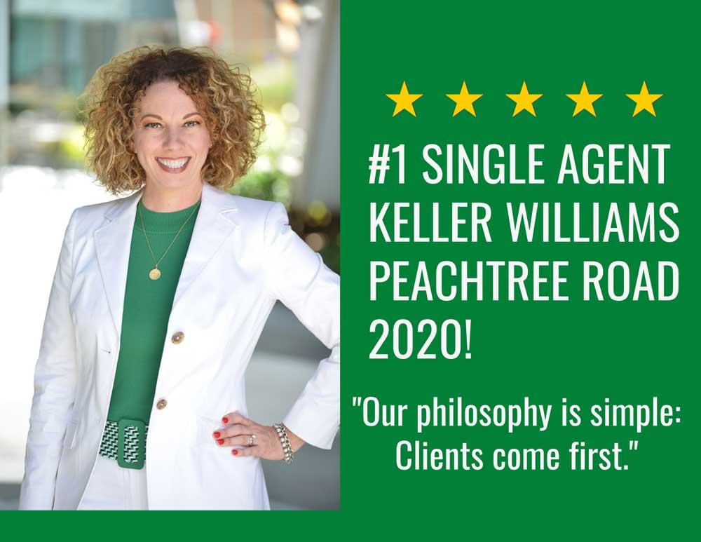 #1 Single Agent Keller Williams Peachtree Road 2020!